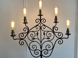 Scrolling Iron Floor Lamp