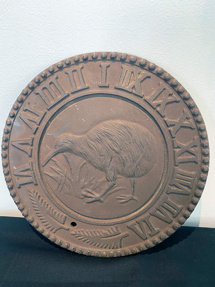 Old Bronze Kiwi Plaque