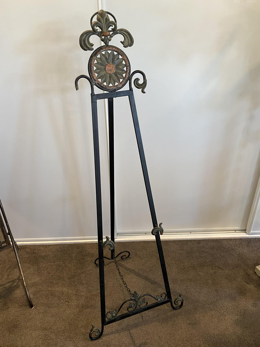 French style metal easel