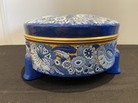 Colourful Longwy Lidded Earthenware Dish