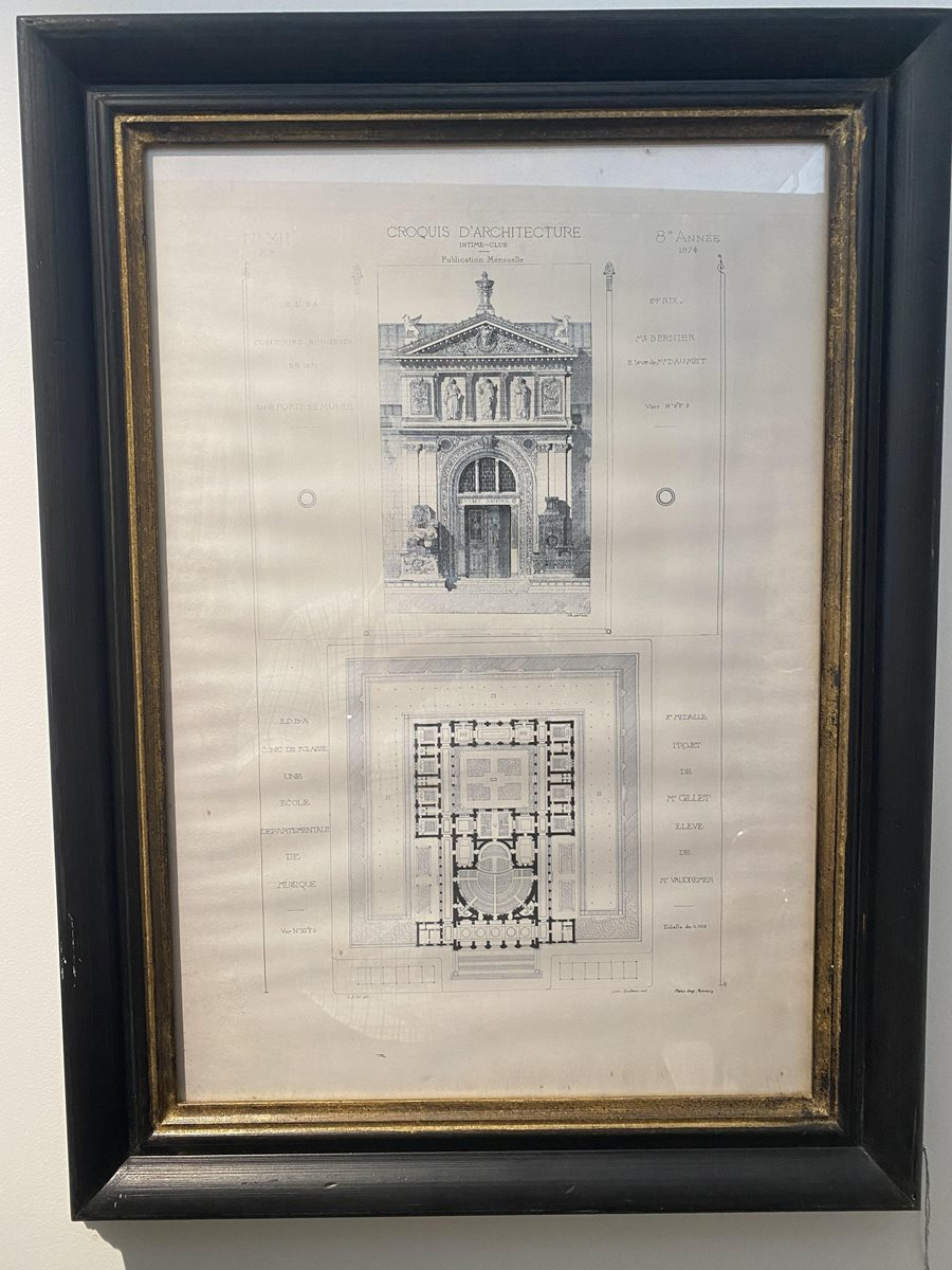 French Architectural Print