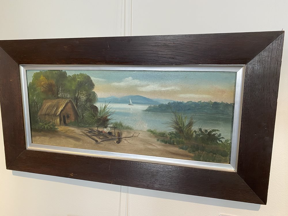 NZ Colonial Oil in oak frame by Henry Garratt, (De Ritz)